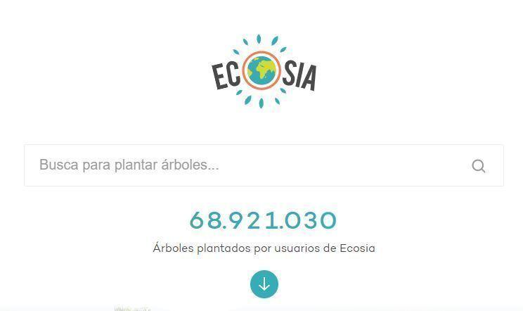 Ecosia planta un árbol mientras navegas en internet