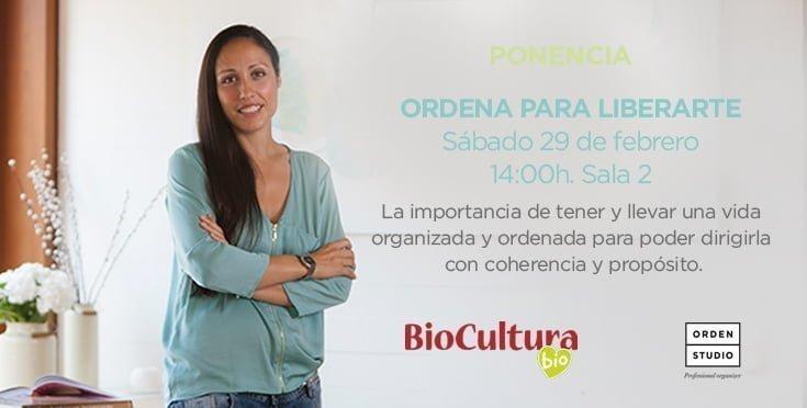 Ponencia en BioCultura: Ordena para liberarte