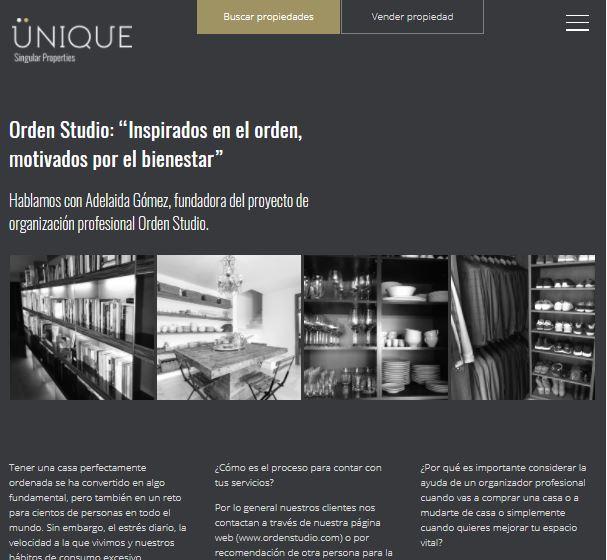 """Orden Studio: """"Inspirados en el orden, motivados por el bienestar"""" - Ünique"""
